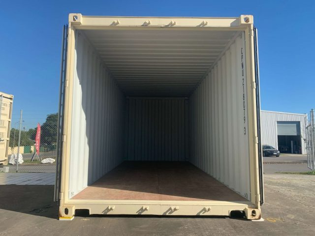 Inside BJS Storage 20 foot container